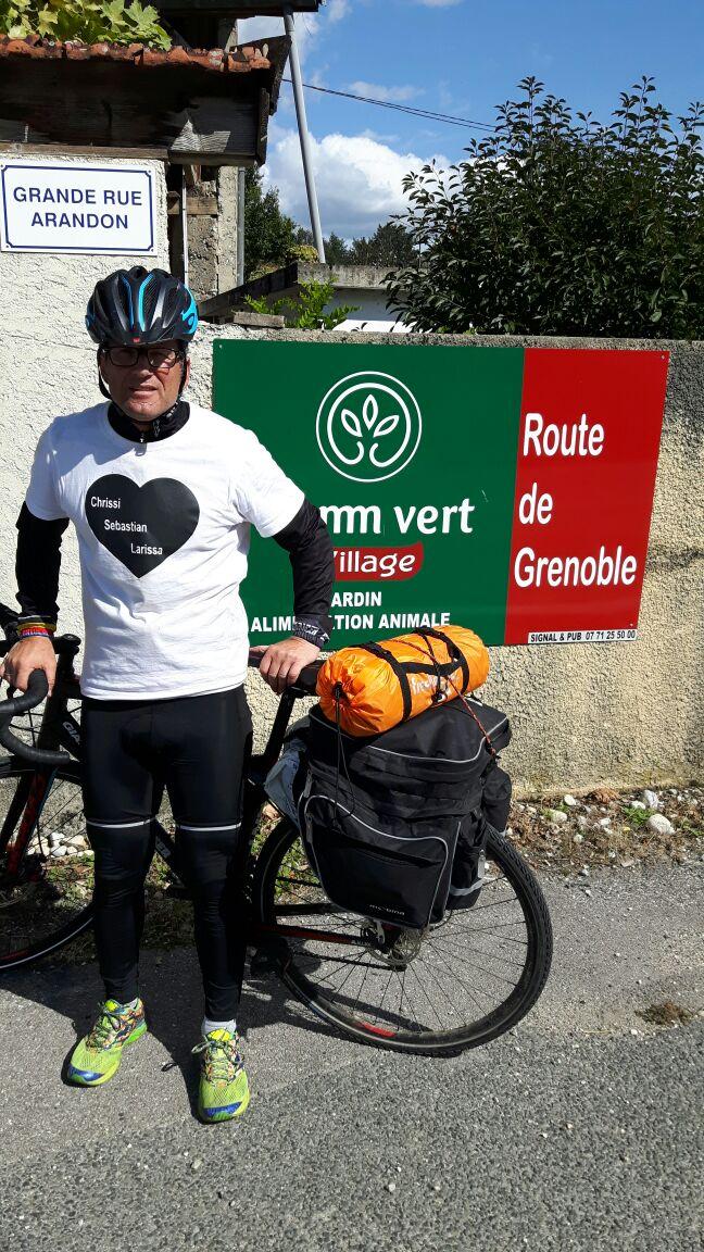 Harry auf seinem Weg durch Frankreich